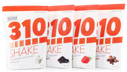 310 Shakes by 310 Nutrition come in a variety of tasty flavors.