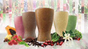 variety of meal replacement shakes