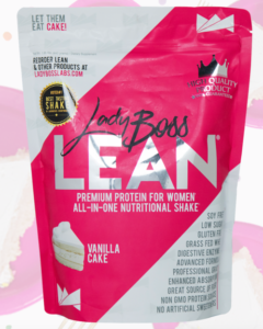 The Lady Boss Lean Shake comes in a Vanilla Cake flavor