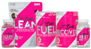 The LadyBoss Shake is part of a 5-product transformation system.