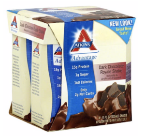 Each Atkins Shake contains 24 vitamins and minerals per serving.