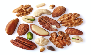 Nuts are a great source of monounsaturated fat.