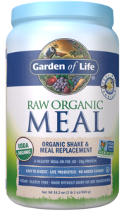 Garden of Life plant based protein powder contains an abundance of whole-food nutrients, including from pea, brown rice, quinoa and flax seed proteins.