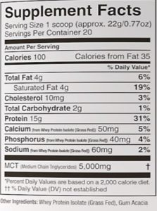 Perfect Keto Base Nutrition Facts and Ingredients