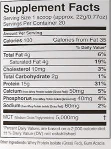 Protein Powder Label