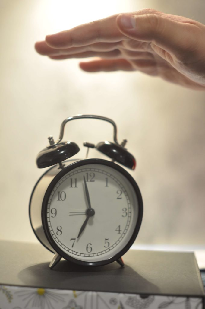 Snoozing alarm clock