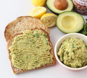 avocado chickpea toast