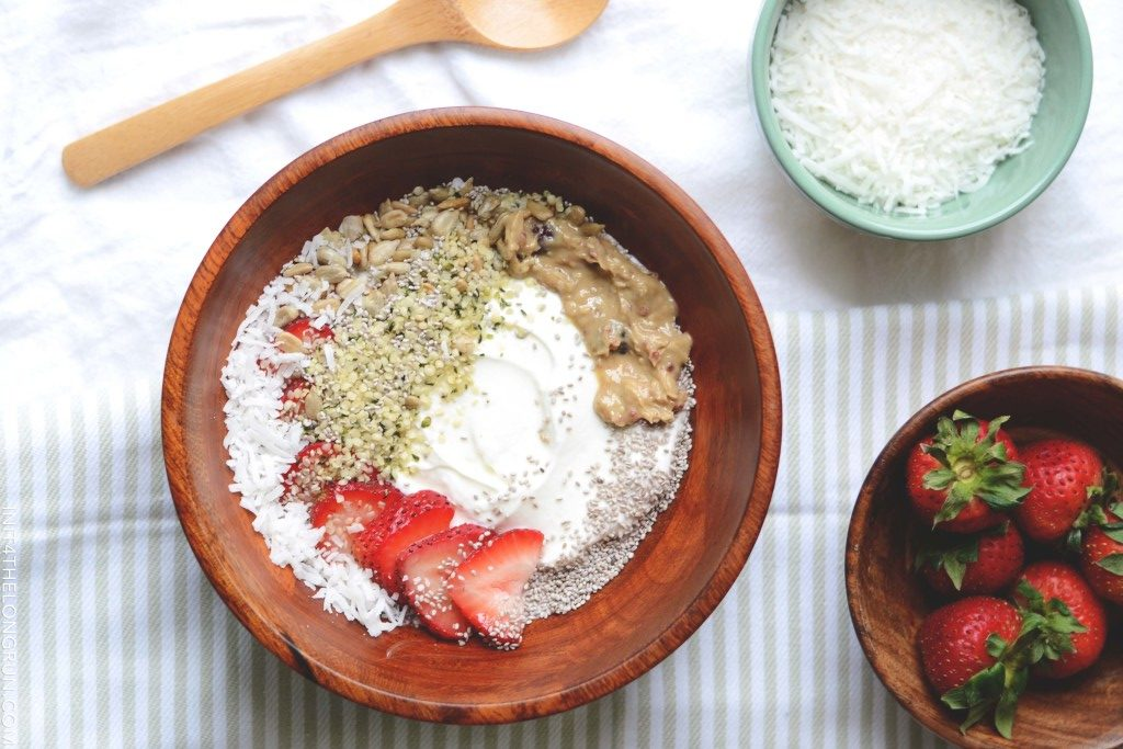 strawberry coconut yogurt bowl
