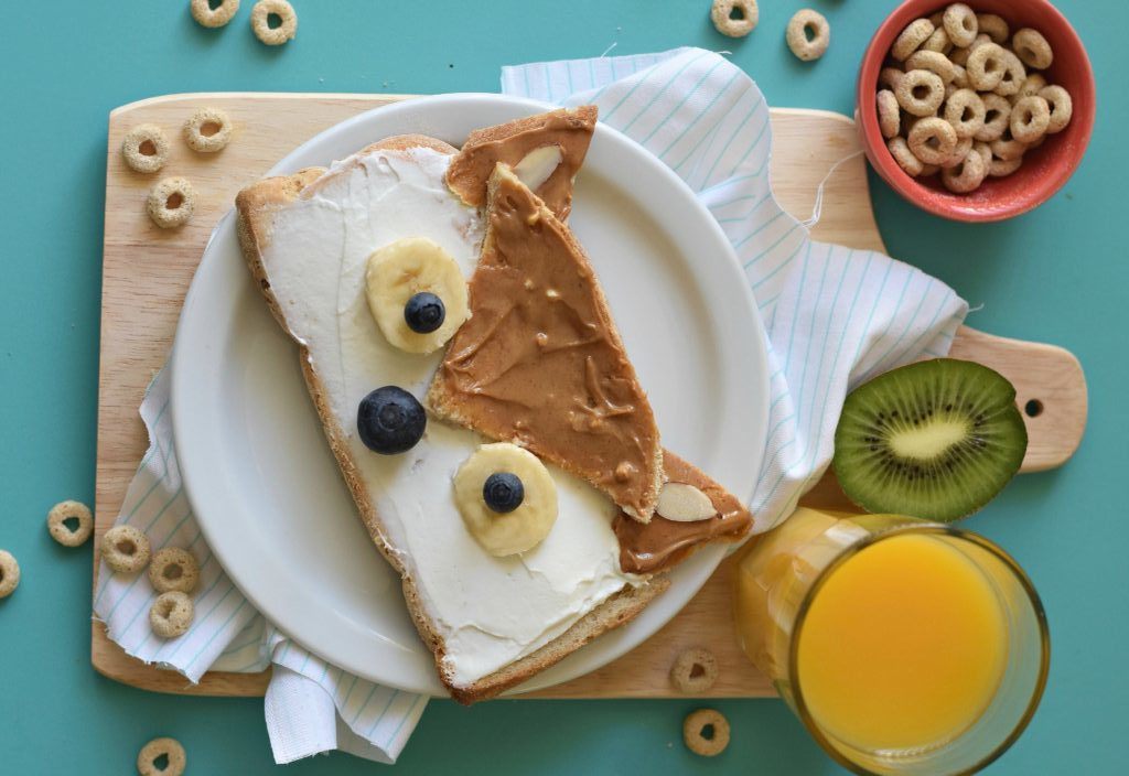 toast in the shape of a fox