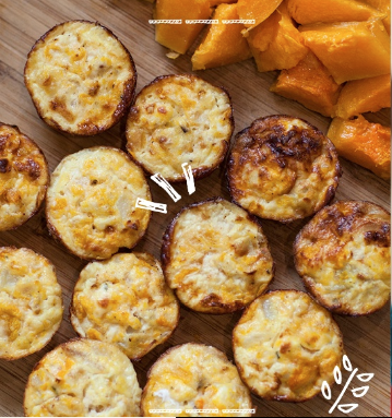 butternut squash and goat cheese egg bites